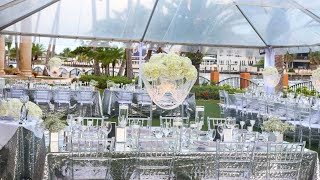 Glam DIY Lighted Crystal Chandelier Centerpiece Full Wedding Day Reveal