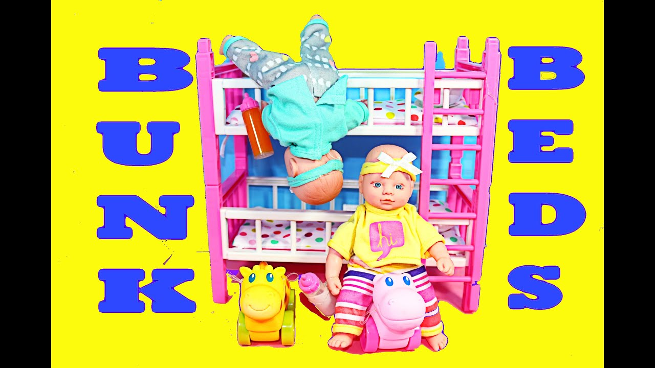 Baby Doll Bedroom Set Bunk Beds Twin Babies Toy Review