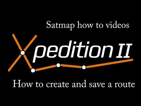 Xpedition 2 - How To Create A Route And Save A Route