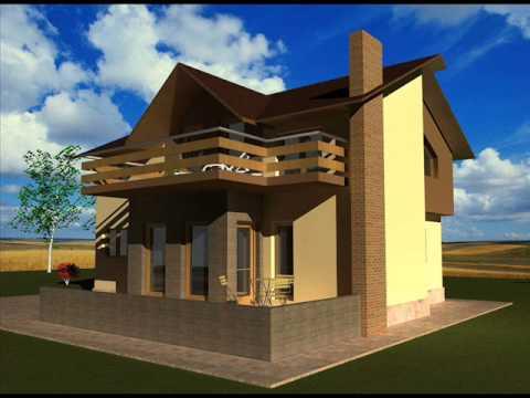 Casa ib 31 proiect de casa cu mansarda bucuresti youtube for Modele de case mici