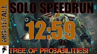 Destiny 2 - Nightfall Speedrun Solo - Tree Of Probabilities (12:59)