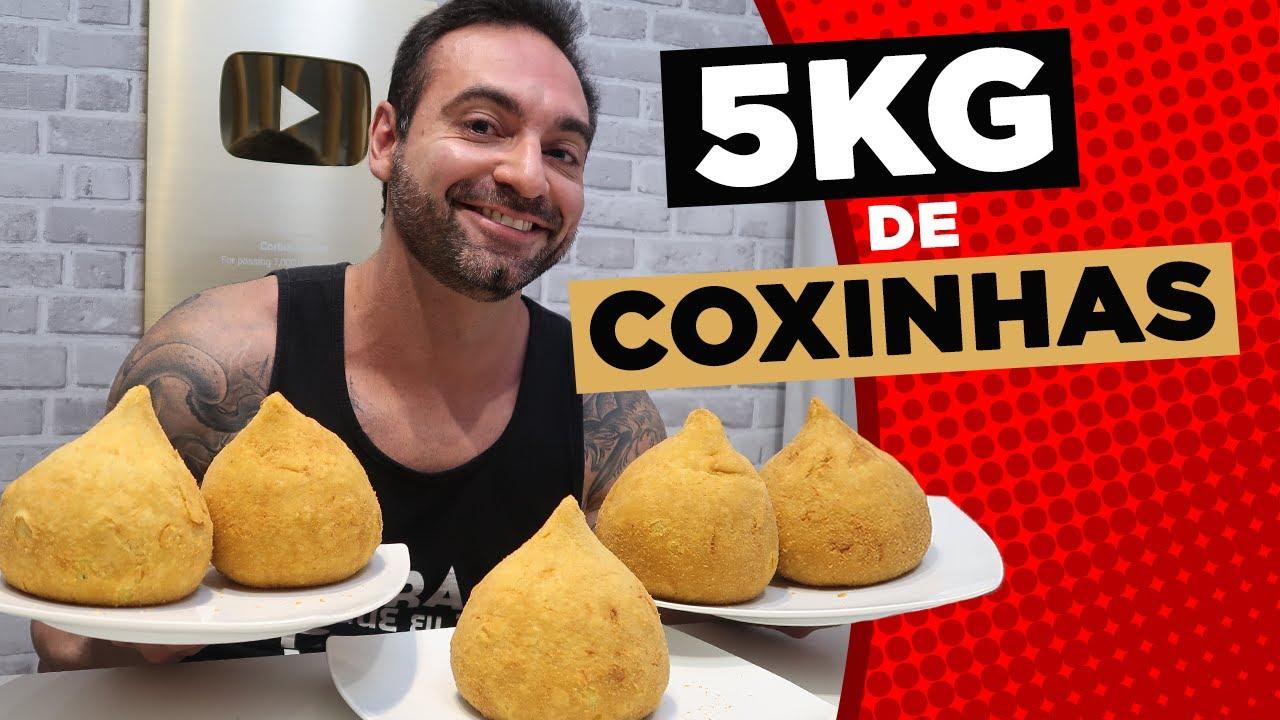 5KG DE COXINHAS GIGANTES!! [14.000+ KCAL]