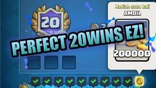 I GOT 20WINS NO LOSE ! Perfect Clash Royale League Challenge Indonesia