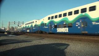 Sounder commuter train at Coach Wye, Seattle, 12-31-2010
