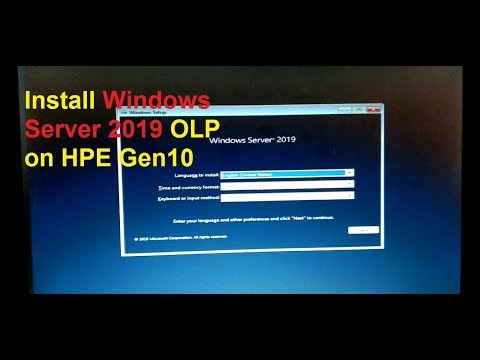 Install Windows Server 2019 OLP On HPE Gen10 / HP G10