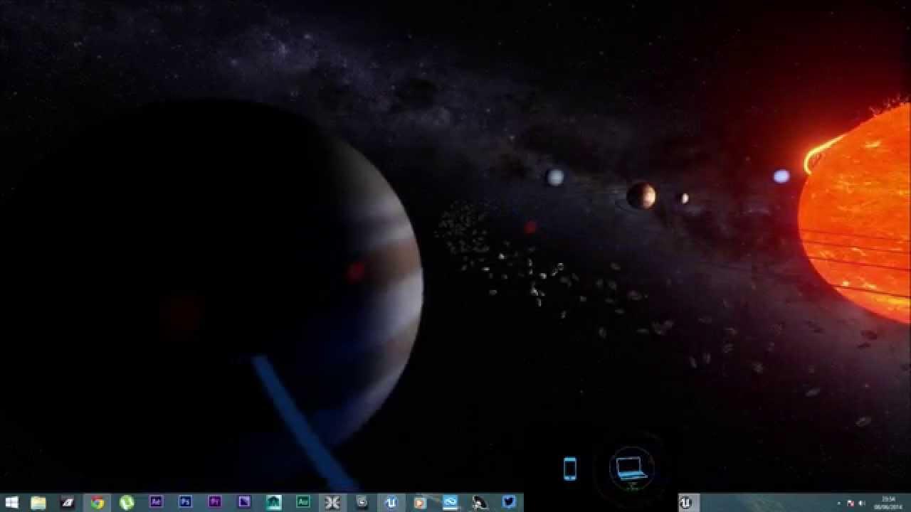 wip solar system simulator use headphones youtube