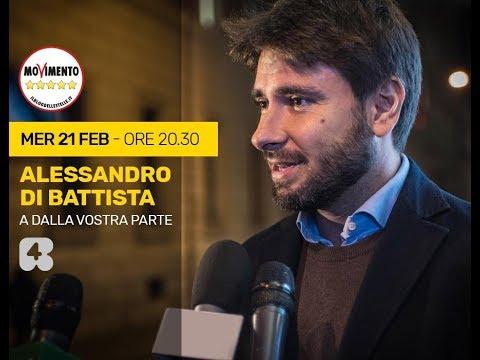 Alessandro Di Battista ospite a Rete4/dalla-vostra-parte 21/2/2018