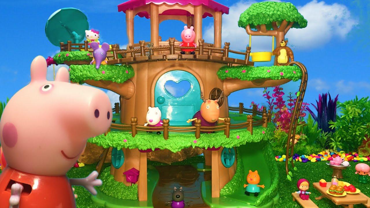 Peppa pig en espa ol peppa pig en la casa rbol peppa pig y sus amigos descubren toboganes - Peppa pig la casa del arbol ...
