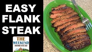 Awesome Easy Flank Steak - BBQ Homestead Style