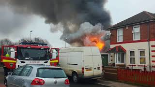 Fire in Port Clarence (Middlesbrough) - RAW VIDEO