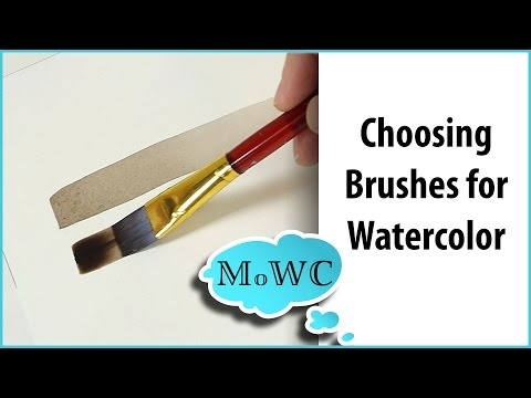 How to Choose Good Watercolor Painting Brushes