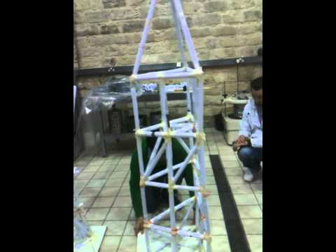 Paper tower building at the Cyprus University of Technology (Year ...