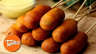 Pigs In Blanket Corndog Recipe   Party Appetizers   Twisted