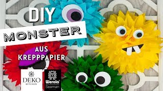 DIY: lustige Monster aus Krepppapier [How to] Deko-Kitchen in Kooperation* mit Werola