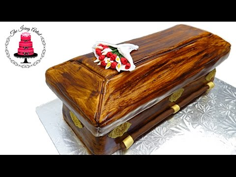 3d Carved Casket Cake How To With The Icing Artist Youtube