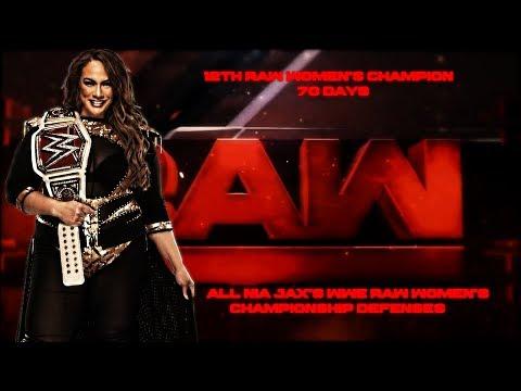 All Nia Jax's Raw Women's Title Defenses
