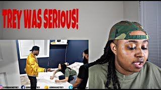 TREY NEEDS A GRAMMY!... I DONT WANT YALL TO BE FRIENDS ANYMORE FT QUEEN AND CLARENCE NYC (REACTION)