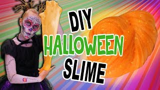 DIY The BEST Halloween Glitter Slime! | WigglePop