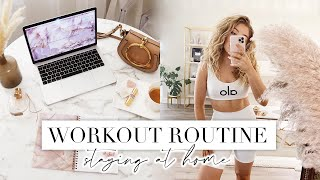 MY WORKOUT ROUTINE AT HOME 💪🏻 + Productive Day In My Life | LA Diaries #20