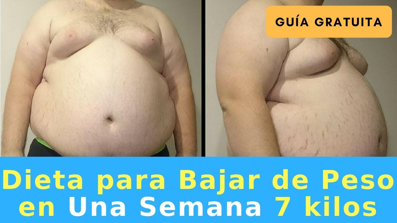 dietas para bajar de peso en una semana 7 kilos