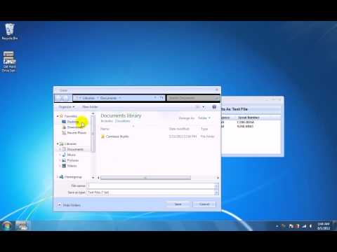 How To Use Get Hard Drive Serial Numbers Software