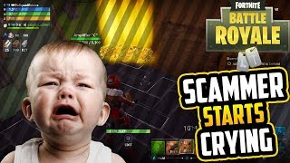fortnite scammer gets scammed he cries