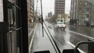【バス前方展望動画】ジェイ・アール北海道バス 53啓明ターミナル→大通西4丁目 札幌22か3050 527-7920