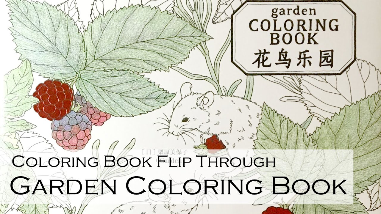 Coloring book Flip Through: Garden Coloring Book (Chinese Edition ...