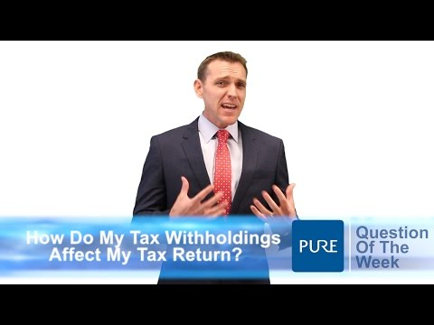 How Do My Withholdings Affect My Tax Return?