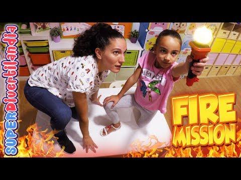 FIRE MISSION! Reto en SUPERDivertilandia con Andrea y Raquel.