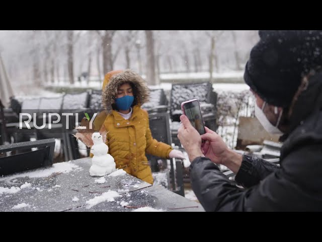 Spain: Madrid turns white as city sees heaviest snowfall in over 10 years