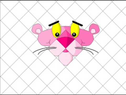 Como dibujar a la pantera rosa - YouTube
