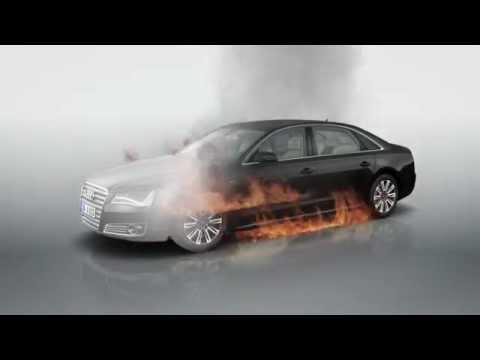 Audi A8 L Security Fire Youtube