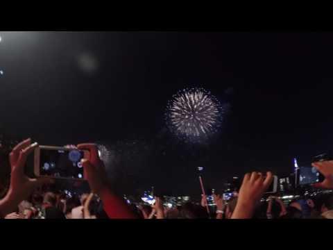 Happy Birthday America 4 July 2017 Macy's Fireworks Manhattan Part 1