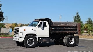 1992 Ford F700 5 Yard Dump Truck for sale by TruckSite.com