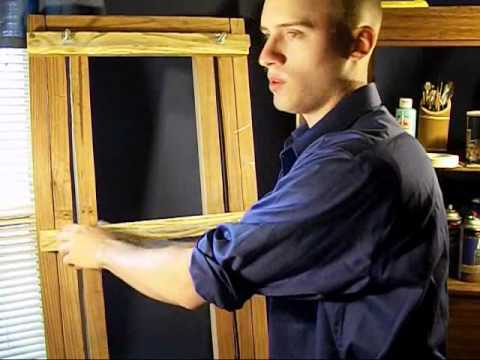 Homemade H-Frame Easel for under $40