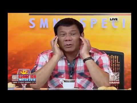 Duterte 1st press conference after leading Presidential Election (May 9, 2016) part 2
