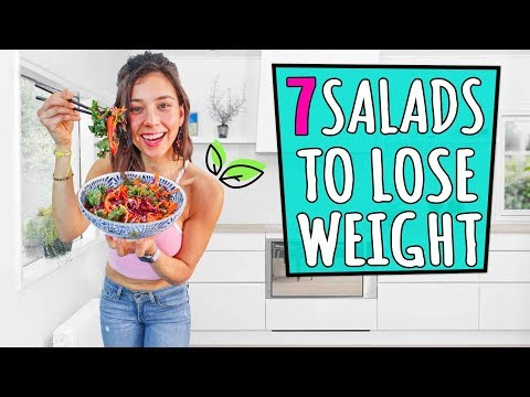 7 VEGAN SALADS TO LOSE WEIGHT!🌿Yovana