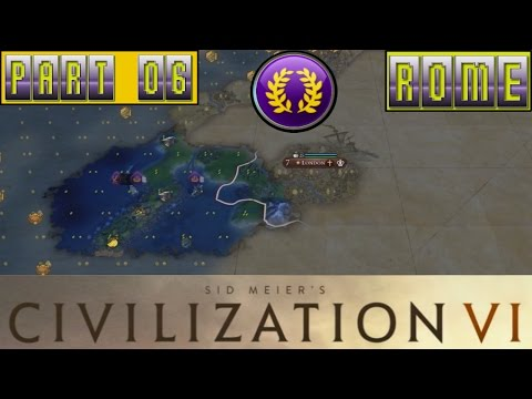 Civilization VI Rome Lets Play Part 06: Exploration & Amenity Issues