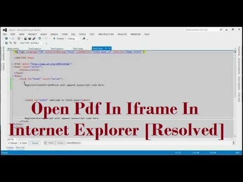 Issue while Opening Pdf In Iframe In Internet Explorer [Resolved With  Example]