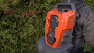 How to use Husqvarna Backpack Battery Blower 340iBT