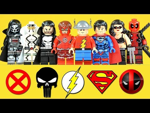 Marvel & DC Titans Flash Superman Punisher Deadpool & Reaper Overwatch Unofficial LEGO Minifigures