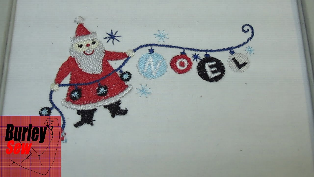 4760c108cf4ca Brother Programmed Christmas Holiday Santa Neol Embroidery Design Stitch