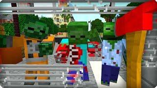 видео: Вот это я влип! [ЧАСТЬ 34] Зомби апокалипсис в майнкрафт! - (Minecraft - Сериал)