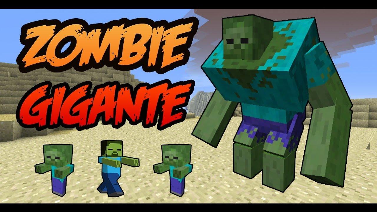 Minecraft 1 8 como hacer un zombie gigante como crear un - Decoraciones para minecraft sin mods ...