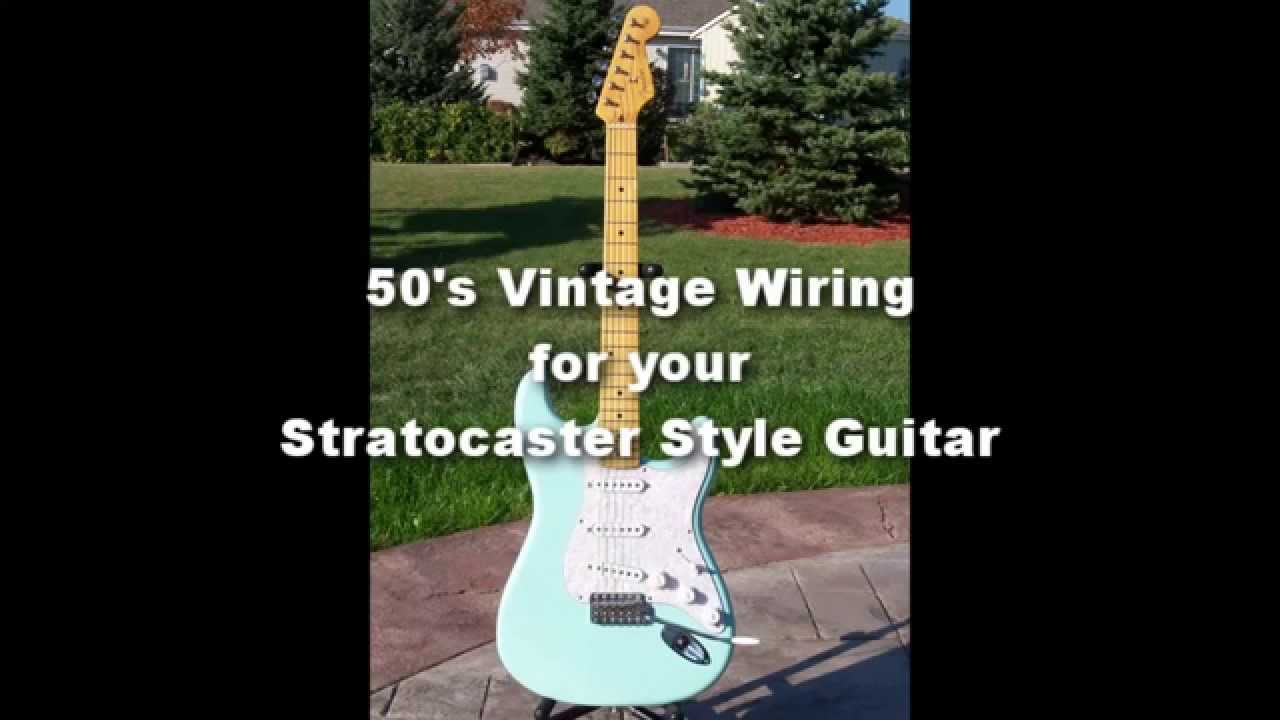 Pickup Wiring Strats For 50 S Detailed Schematics Diagram Acoustic Guitar Diagrams 50s Or Vintage Style A Stratocaster Youtube Bhk
