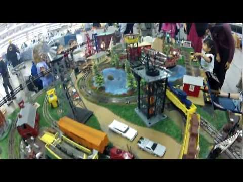 Lionel Train Set and Town at The Great Train Show