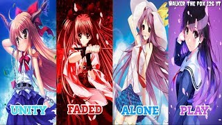 Download Nightcore - Play x Unity x Faded x Alone ~ (Switching Vocals) •Alan Walker Mashup•