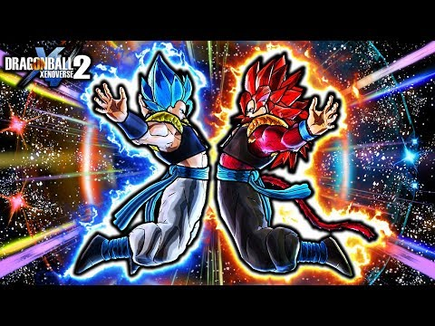 NEW GOGETA BLUE & SSJ4 GOGETA FUSION! Dragon Ball Xenoverse 2 Custom Fused Gogeta Skills & ALL Forms