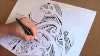 How to draw a Maori shoulder sleeve tattoo